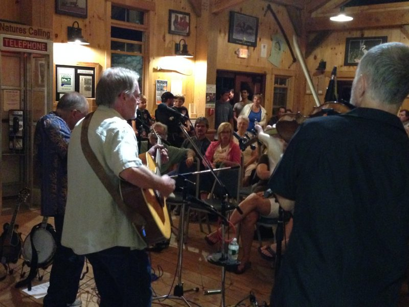 Concert at Winding Trails in Log Cabin