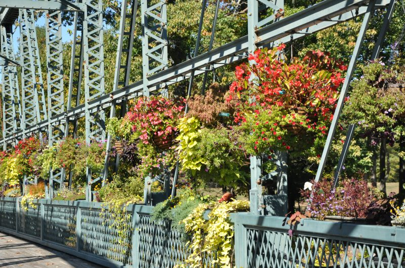 Drake Hill Flower Bridge, Simsbury CT - Built 1892 -There are 62 flower boxes and the bridge used for pedestrian & bicycle only. Placed on the National Register of Historic Places in 1984.
