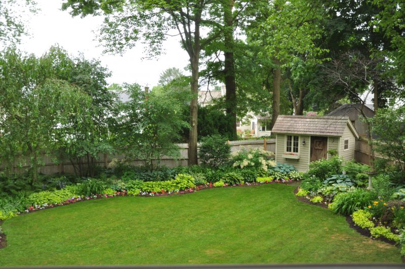 How to landscape a .25 acre lot to create a small paradise. West Hartford, Ct