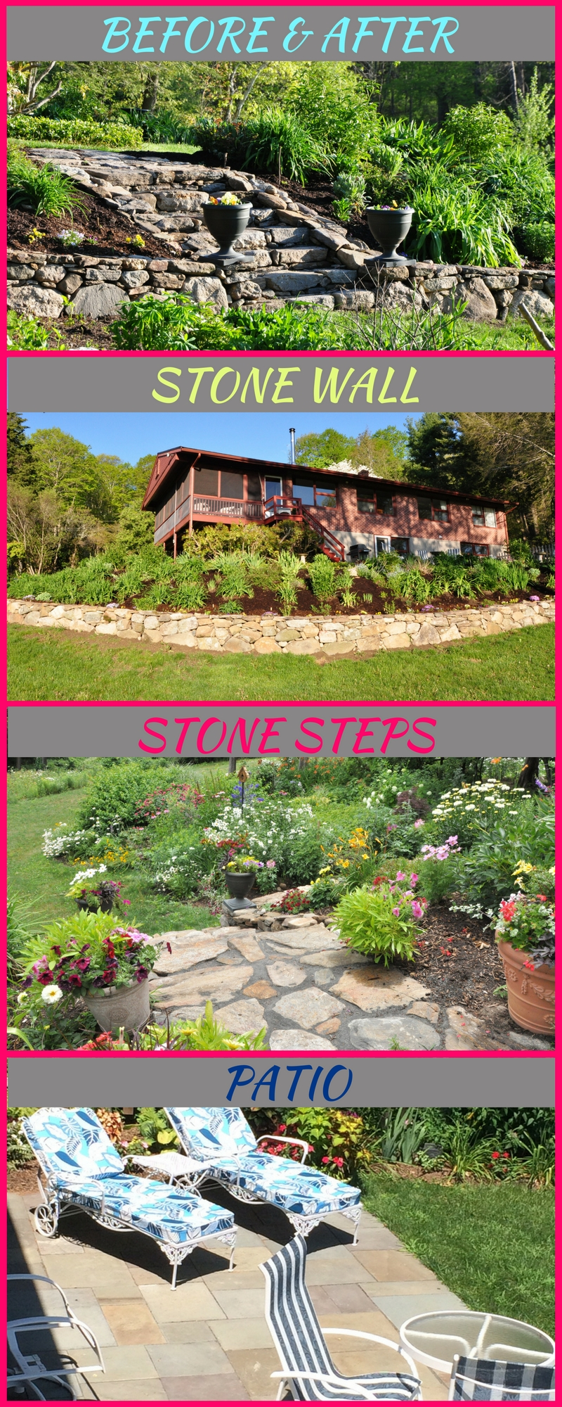 Landscape design part 2 side yard stone steps before and after eileen anderson realtor - Garden design before and after ...