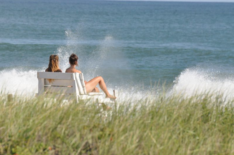 Girls on Beach, Vist CT shoreline, Beaches CT, Real Estate CT