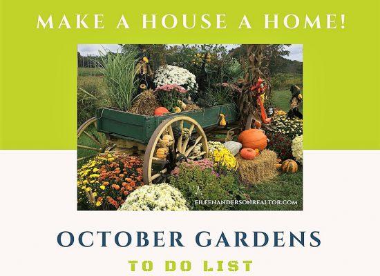 October gardens, Lawn maintanence, to do list, plant care, gardens, landscape design, Fall garden chores