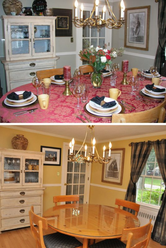 Dining Room Before and After Home Staging