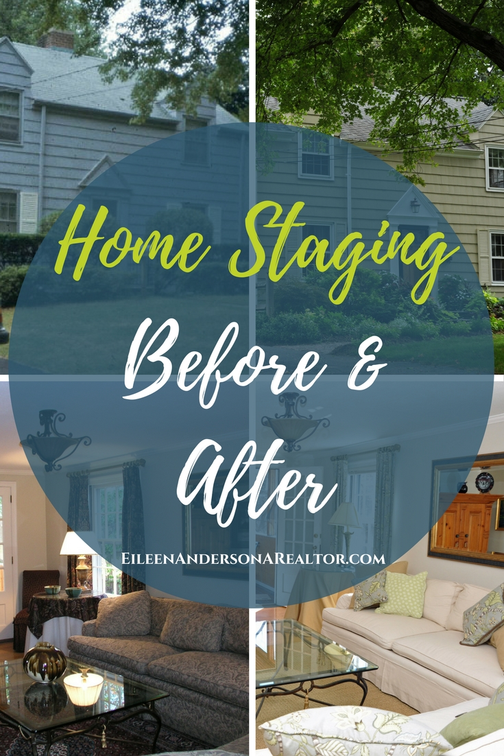 How to prepare your home for a smooth sale. Home Staging Before & After photos, Landscape Design, Decorate with Fabric, Curb Appeal when selling your home matters! Real Estate home sales. Home Decorating. #realestate