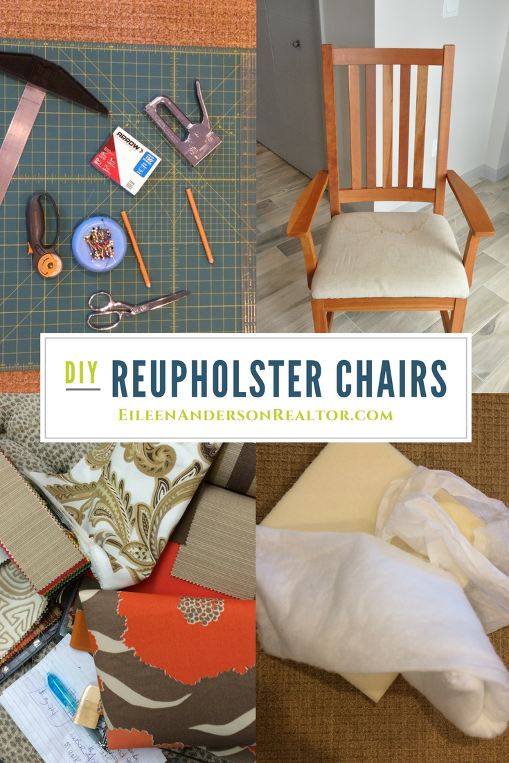 How To Reupholster Chairs, DIY, Home Staging To Sell, Real Estate