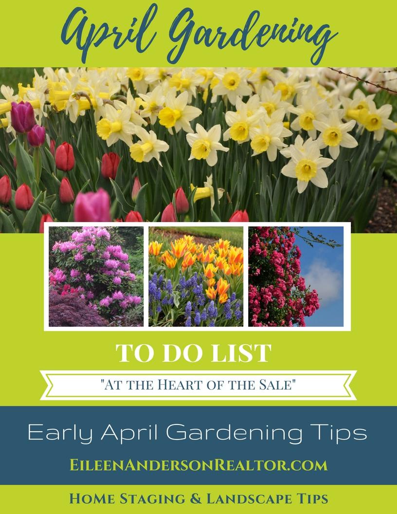Early April Garden Maintenance DIY, Home Maintenance, Home Improvement, Garden tips, Landscape design, Home Staging, real estate sales