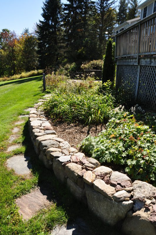 Stone Walls and gardens off deck 208 Westledge Rd, West Simsbury, CT