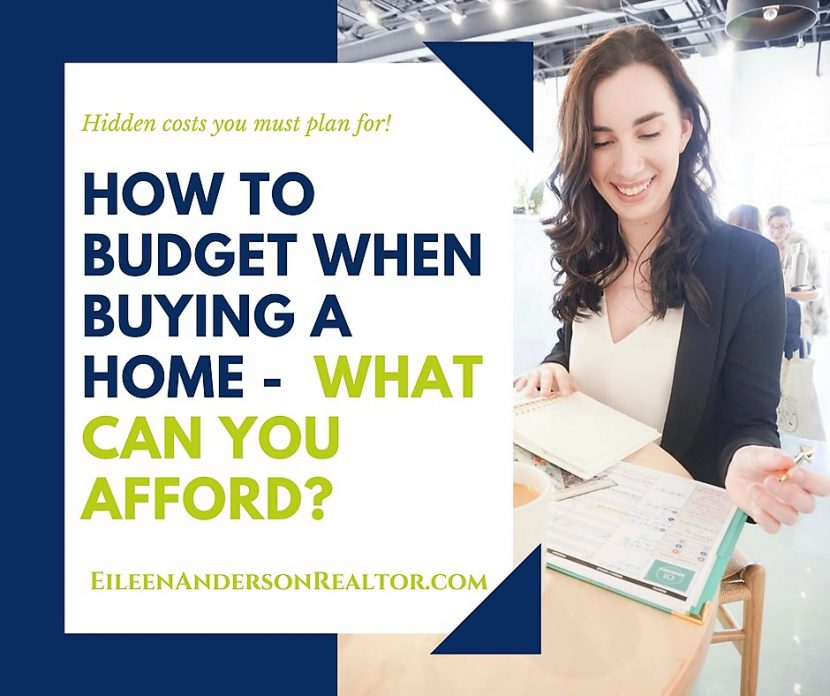 Create budget for buying a home, first time home buyers, mortgage information, how much home can you afford, real estate Simsbury, Realtor Simsbury CT