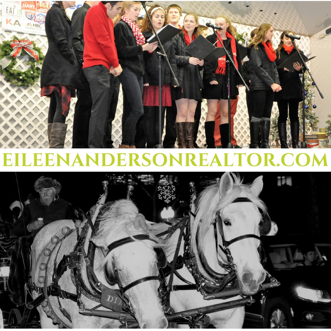 West Hartford Holiday Stroll Concert and horse drawn rides.