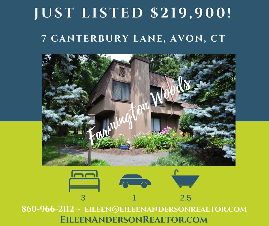 7 Canterbury Lane Avon CT for sale farmington woods real estate